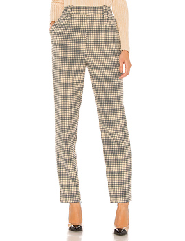 The Olivette Pant In Taupe Plaid by L'academie