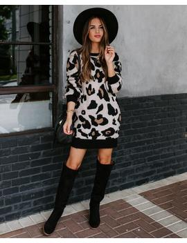 Preorder   Your Wish Is My Command Leopard Sweater Dress by Vici