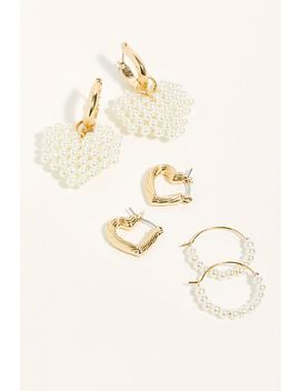 Merci Hoop Earring Set by Free People
