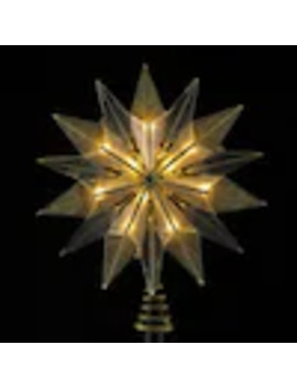 Northlight 9 In Pre Lit 14 Point Smoked Cadiz And Brass Plated Star Burst Christmas Tree Topper by Lowe's