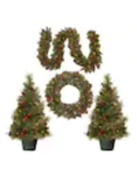 National Tree Company Pre Lit Christmas Decoration Assortment With Battery Operated Led Lights by Lowe's