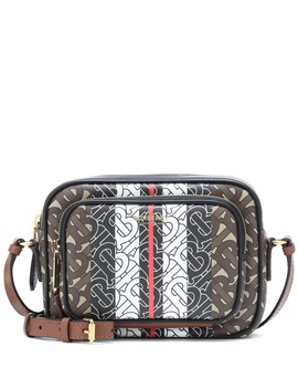 Monogram Stripe Coated Canvas Shoulder Bag by Burberry