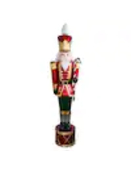 National Tree Company 65 In Jeweled Nutcracker With 20 White Led Lights by Lowe's