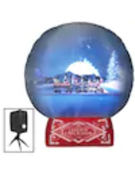 Gemmy Living Projection Airblown Snow Globe 7 1/2 Foot Christmas Inflatable by Lowe's