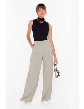 Wide Awake High Waisted Wide Leg Trousers by Nasty Gal