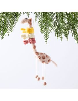 Whimsical Felt Ornament   Giraffe In Scarf by West Elm