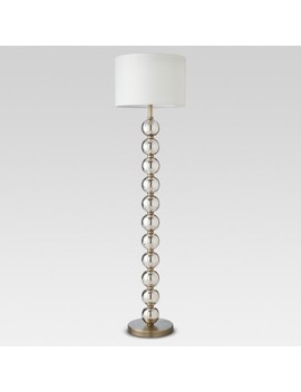 Mercury Glass Stacked Ball Floor Lamp Brass Includes Energy Efficient Light Bulb   Threshold™ by Threshold