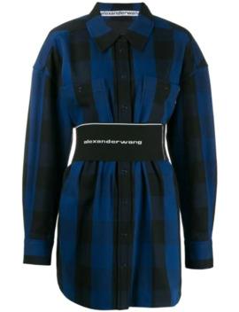Checked Short Shirt Dress by Alexander Wang