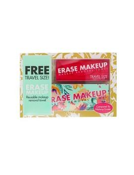 Erase Makeup Floral Reusable Makeup Removal Towel Plus Free Travel Size Towel by Erase Makeup