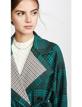 Plaid Trench Coat by See By Chloe