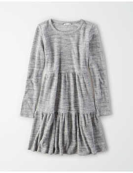 Ae Plush Tiered Babydoll Dress by American Eagle Outfitters