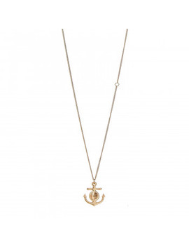 Chanel Anchor Cc Pendant Necklace Gold by Chanel