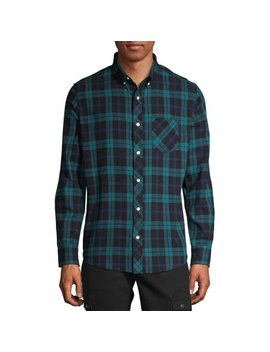 One Day Away Men's Long Sleeve Brushed Flannel Shirt by One Day Away
