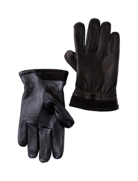 Faux Fur Lined Captain Pieced Leather Glove by Ugg