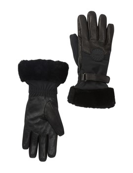 Genuine Shearling Cuff Performance Smart Gloves by Ugg