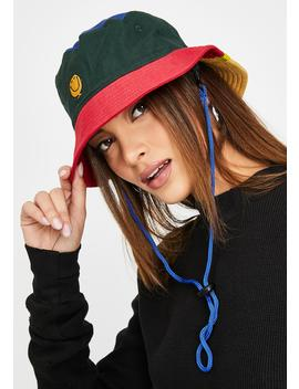 Mr Happy Colour Panel Hat by Lazy Oaf