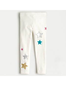 Girls' Everyday Legging With Star Patches by J.Crew