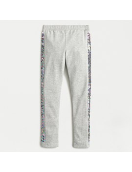 Girls' Everyday Leggings With Reversible Sequin Tuxedo Stripe by J.Crew