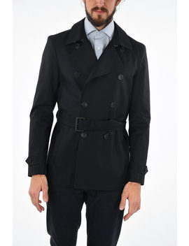 3 Button Double Breasted Peacoat by Corneliani