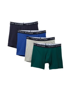 Cotton Stretch Boxer Briefs   Pack Of 4 by Tommy Hilfiger