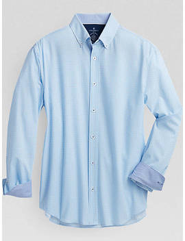 Construct Blue Gingham Slim Fit Sport Shirt by Construct