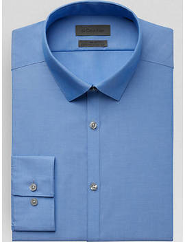 Calvin Klein Infinite Frost Blue Slim Fit Dress Shirt by Mens Wearhouse