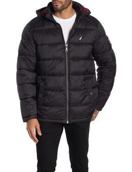 Water Resistant Hooded Puffer Jacket by Nautica