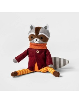 """14"""" Harvest Sitting Raccoon Fabric Figure   Spritz™ by Shop Collections"""