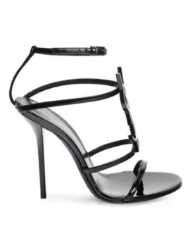 Cassandra Patent Leather Sandals by Saint Laurent
