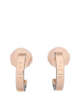 Cartier 18 K Yellow Gold Small Love Hoop Earrings by Cartier