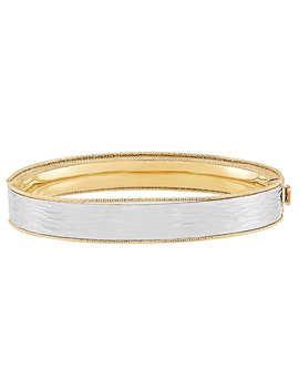 14kt Two Tone Gold Diamond Cut Bangle by Costco