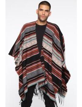Adan Poncho Sweater   Multi Color by Fashion Nova