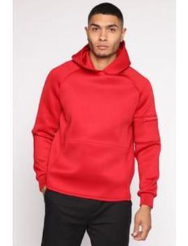 Benedict Hoodie   Red by Fashion Nova