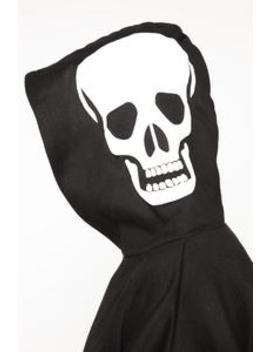 Skull Hood Puff Print Hoodie   Black/White by Fashion Nova