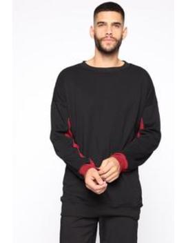 Lorenzo Sweatshirt   Black/Combo by Fashion Nova