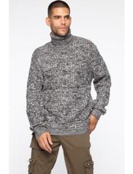 Dante Turtleneck Sweater   Black/White by Fashion Nova