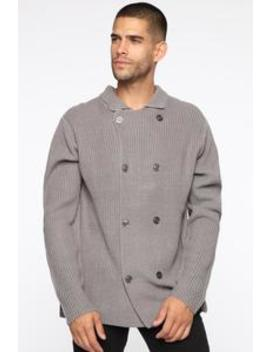 Wesley Cardigan Sweater   Heather Grey by Fashion Nova