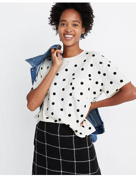 Easy Crop Pocket Tee In Cat Person by Madewell