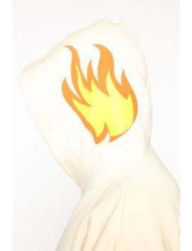 Flames Hoodie   Cream/Combo by Fashion Nova
