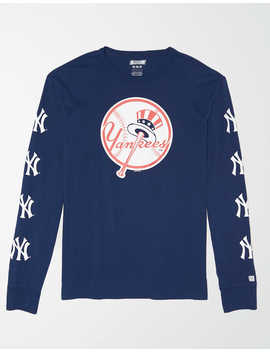 Tailgate Men's Ny Yankees Long Sleeve Graphic T Shirt by American Eagle Outfitters