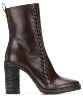 Woven Ankle Boots by Haider Ackermann