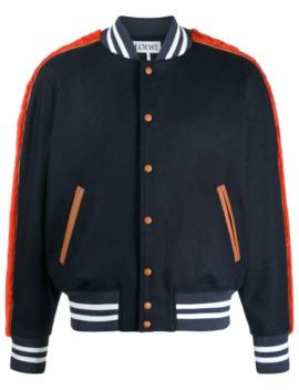Contrast Trim Varsity Jacket by Loewe