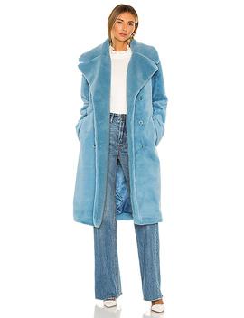 Happy Faux Fur Jacket In Teal by Stine Goya