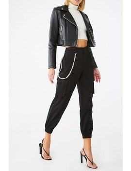 Chain Accent Cargo Joggers by Forever 21