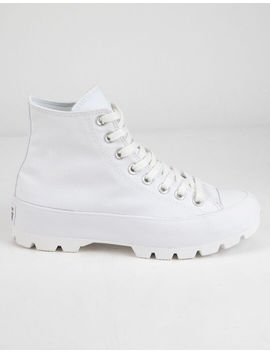 Converse Chuck Taylor All Star Lugged White High Tops by Converse