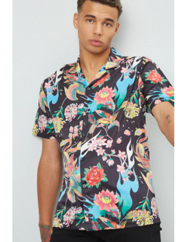 Classic Floral & Bird Print Shirt by Forever 21