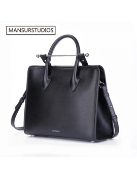 Mansurstudios Women Fashion Genuine Leather Briefcase ,Famous Real Leather Crossbody Bag Shoulder Bag, Free Shipping by Ali Express.Com