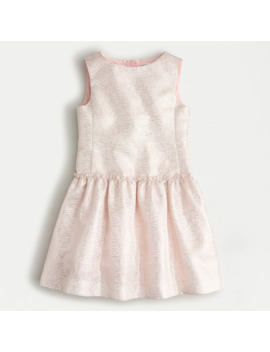 Girls' Sleeveless Jacquard Dress With Ruffle Detail by J.Crew