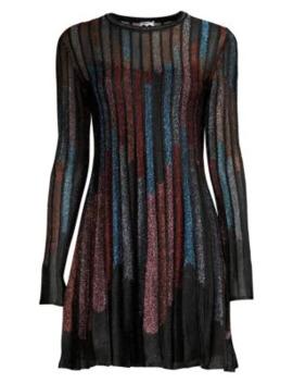 Glitter Lurex Mini A Line Dress by M Missoni