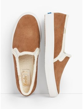 Keds® Double Decker Suede Slip On Sneakers by Talbots